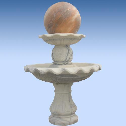 黄锈石石材圆球